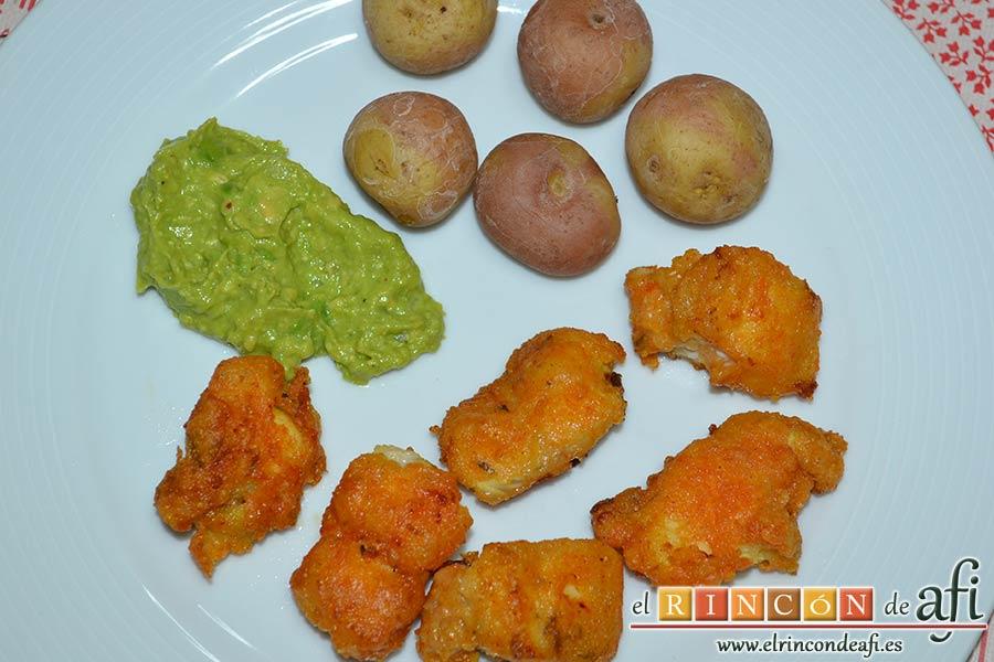 Guacamole de los hermanos Torres o guaca-Torres, sugerencia de presentación