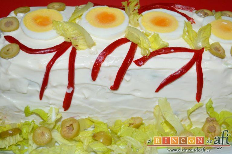 Pastel de pan de molde, decorar al gusto