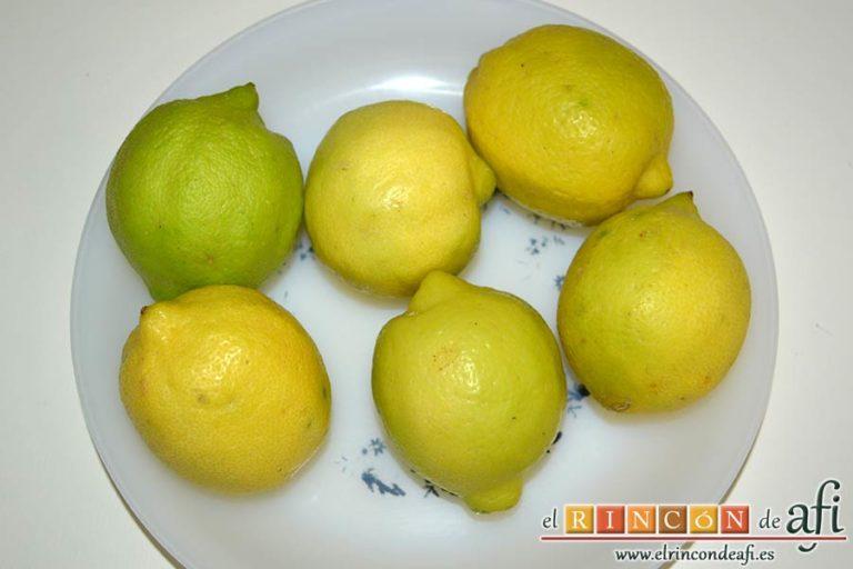 Pollo al limón, preparar los limones