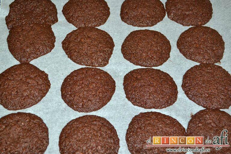 Biscuits afganos o Afghan biscuits, hornear