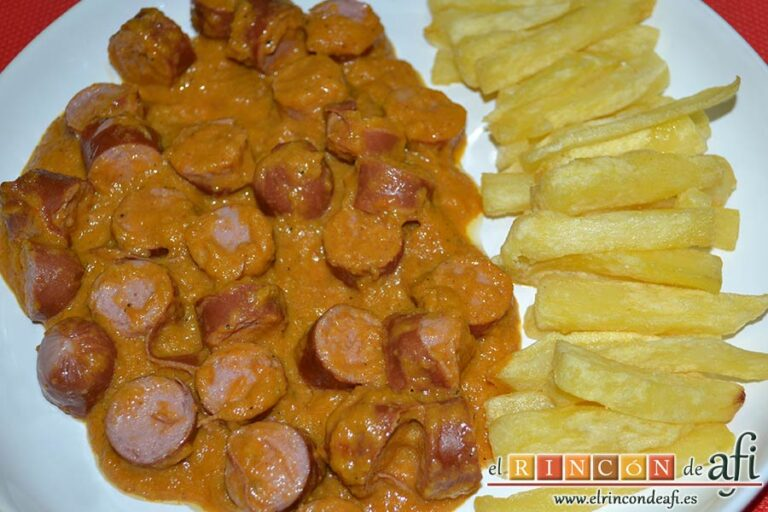 Currywurst, sugerencia de presentación