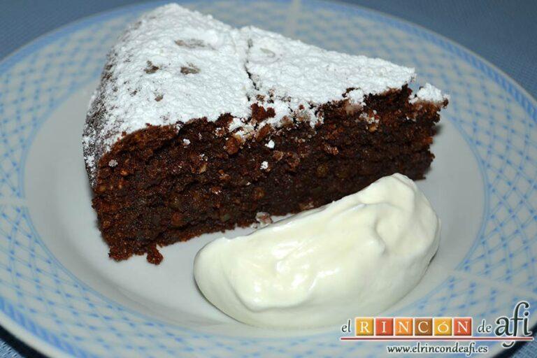 Tarta Caprese o Torta Caprese, sugerencia de presentación